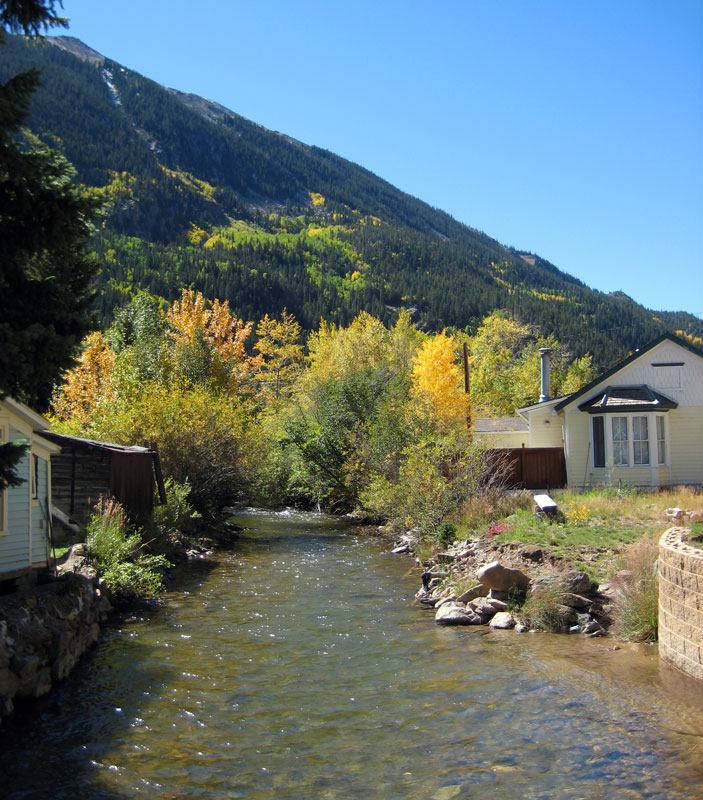 A river runs through it... Clear Creek as it flows through Silver Plume - probably doesn't look much different than it did 100 years ago...